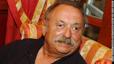 FRANCE - SEPTEMBER 10:  Jim Harrison awarded literary prize of the thirtieth Deauville US film festival for his novel 'True North' (De Marquette a Vera Cruz) in Deauville, France on September 10, 2004.  (Photo by David LEFRANC/Gamma-Rapho via Getty Images)