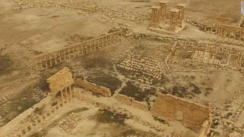 Drone captures footage of Palmyra ruins