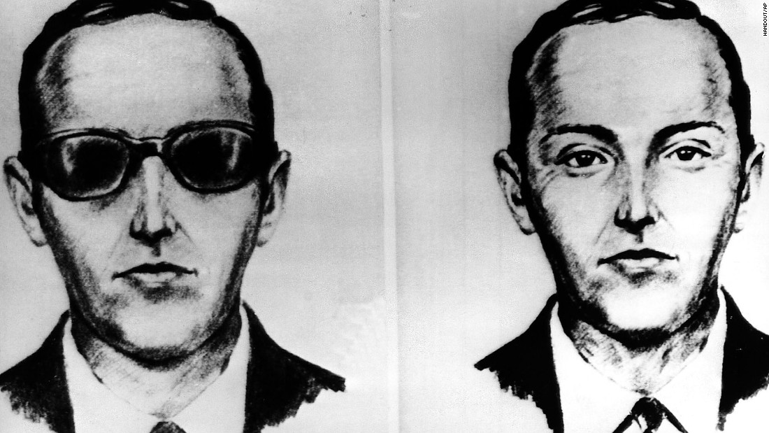 """This FBI sketch shows one of America's most famous skyjackers, a man called """"D.B. Cooper"""" who bailed out of a Boeing 727 in 1971 and vanished with $200,000 in ransom. He has never been caught."""