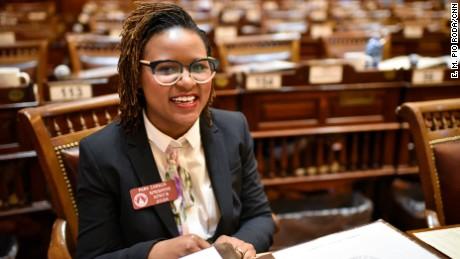 03/17/2016 CNN.com GA State House Representative Park Cannon Georgia State Capitol Atlanta, GA ph: E. M. Pio Roda / CNN