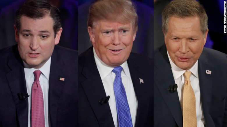 All three GOP candidates backed away from their pledge to support GOP nominee
