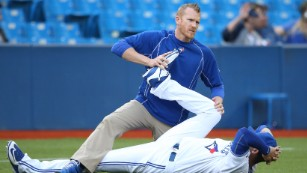 Chris Joyner of the Toronto Blue Jays