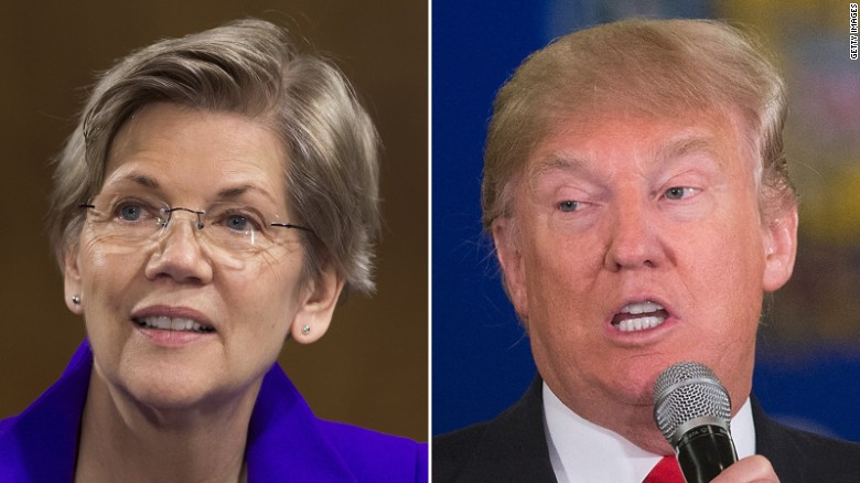 Elizabeth Warren stands up to Trump on Twitter