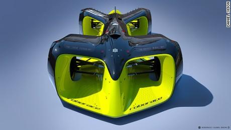 Daniel Simon's staggering Roborace car design, which will be seen at the Formula E Grand Prix in Long Beach