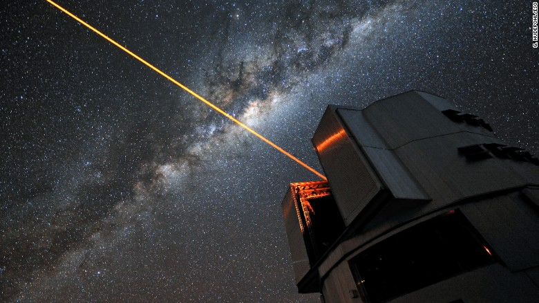 Lasers similar to those used on the Very Large Telescope in Chile could help cloak our planet, two astronomers say.