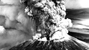The eruption of Mount St. Helens: Mount St. Helens erupted in Washington state on May 18, 1980, triggered by an earthquake.