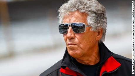 INDIANAPOLIS, IN - MAY 12: Mario Andretti watches the action from pit lane during Indianapolis 500 practice at the Indianapolis Motor Speedway on May 12, 2013 in Indianapolis, Indiana. (Photo by Michael Hickey/Getty Images)