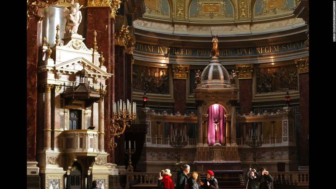 St. Stephen Basilica is a Roman Catholic church named in honor of Stephen, the first king of Hungary. A relic said to be his right hand is on display in the reliquary.