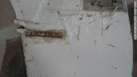 A piece of debris suspected to be from missing MH370 was found on the coast of Rodrigues Island in Mauritius on Thursday, an employee for the Mourouk Ebony Hotel -- where the debris was stored for safekeeping --told CNN.