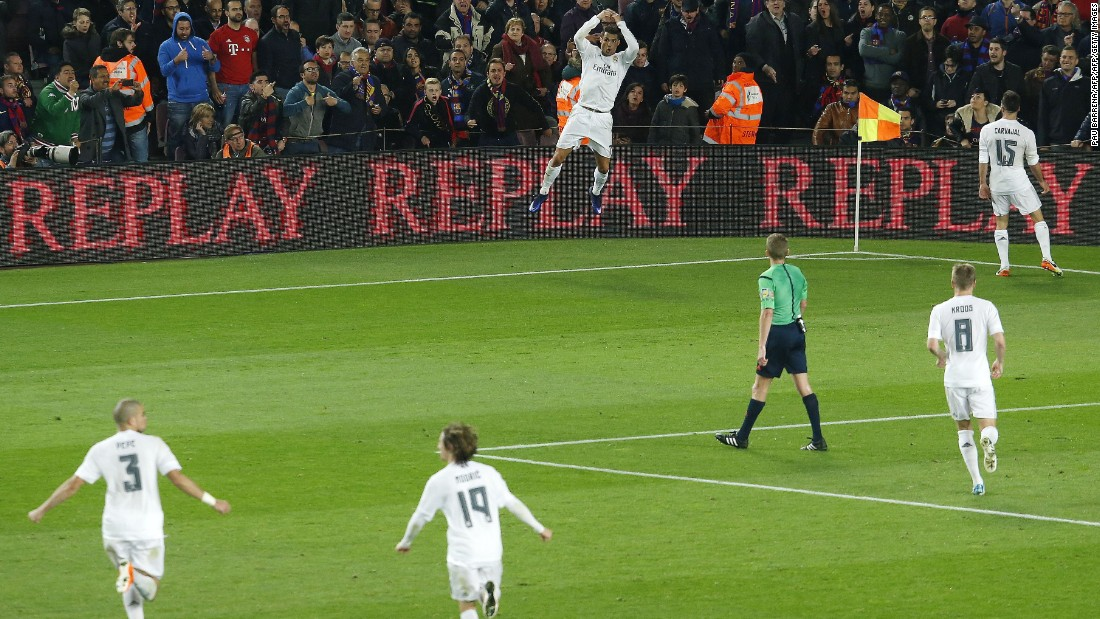 The second late victory was certainly the sweetest. Cristiano Ronaldo struck an 82nd minute winner against bitter rival Barcelona on April 2 in El Clasico, sealing a comeback win.