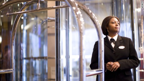 Hyatt hotel employee reflects staff diversity as recognized by Fortune magazine in 2015.