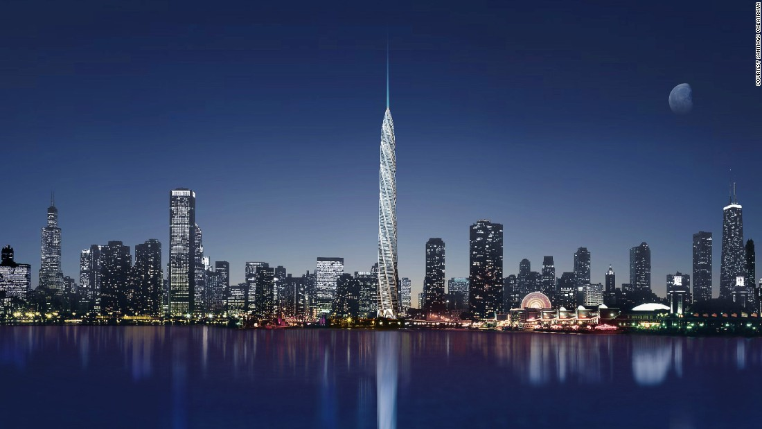 """Unlike OPA's house in a cliff, many of the most interesting designs in architecture have never been realized. Here's a look at the greatest buildings that never <a href=""""http://www.cnn.com/2016/04/12/architecture/incredible-architecture-that-was-never-built/index.html"""" target=""""_blank"""">were</a>. <br /><br />How different Chicago's skyline would have looked if Calatrava's 2005 design had been built. One thousand four hundred and fifty eight feet (444 meters) of slender twisted steel and glass, the Chicago Spire would have knocked the Willis Tower (formely the Sears Tower) down a peg, trumping it by a whole two meters and a whole lot of style. The 920,000 square foot structure would have featured residential apartments, retail space and a five-star hotel, with each floor rotating 2 degrees around a central core, turning 270 degrees through the height of the building. <br /><br />But then the global financial crisis hit. Construction halted in 2008 with claims that heavy debts had been racked up. In this instance Donald Trump was right: the Chicago Spire had been """"<a href=""""http://www.chicagotribune.com/business/chi-chicago-spire-biz-20150313-story.html"""" target=""""_blank"""">financial suicide</a>."""""""