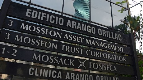 View of a sign outside the building where Panama-based Mossack Fonseca law firm offices are placed in Panama City on April 3, 2016. A massive leak -coming from Mossack Fonseca- of 11.5 million tax documents on Sunday exposed the secret offshore dealings of aides to Russian president Vladimir Putin, world leaders and celebrities including Barcelona forward Lionel Messi. An investigation into the documents by more than 100 media groups, described as one of the largest such probes in history, revealed the hidden offshore dealings in the assets of around 140 political figures -- including 12 current or former heads of states. AFP PHOTO / EDUARDO GRIMALDO / AFP / EDUARDO GRIMALDO        (Photo credit should read EDUARDO GRIMALDO/AFP/Getty Images)