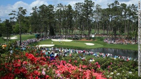 AUGUSTA, GA - APRIL 06:  A general view of the 16th green is seen during a practice round prior to the start of the 2015 Masters Tournament at Augusta National Golf Club on April 6, 2015 in Augusta, Georgia.  (Photo by Andrew Redington/Getty Images)