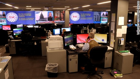 The operations center of the Terrorist Screening Center