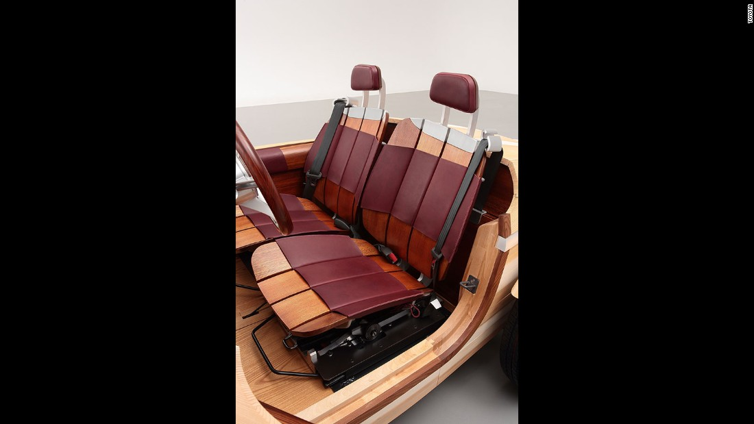 toyota 39 s wood car fits together like a jigsaw puzzle. Black Bedroom Furniture Sets. Home Design Ideas