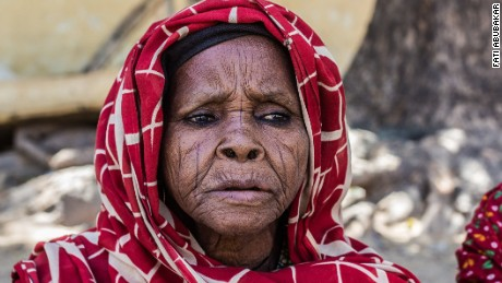 """""""Boko Haram attacked our village Malari in Konduga Local Government and killed my son. So my friend and I found a car and came to Maiduguri. We live with my other son. But he can't feed us all the time, so we beg on the street."""" Ya Hajja"""