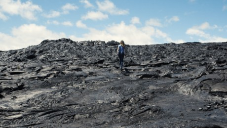 Way Up There general space series: Rachel on lava