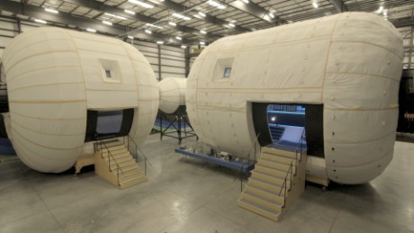 These expandable space habitats may take astronauts to Mars.