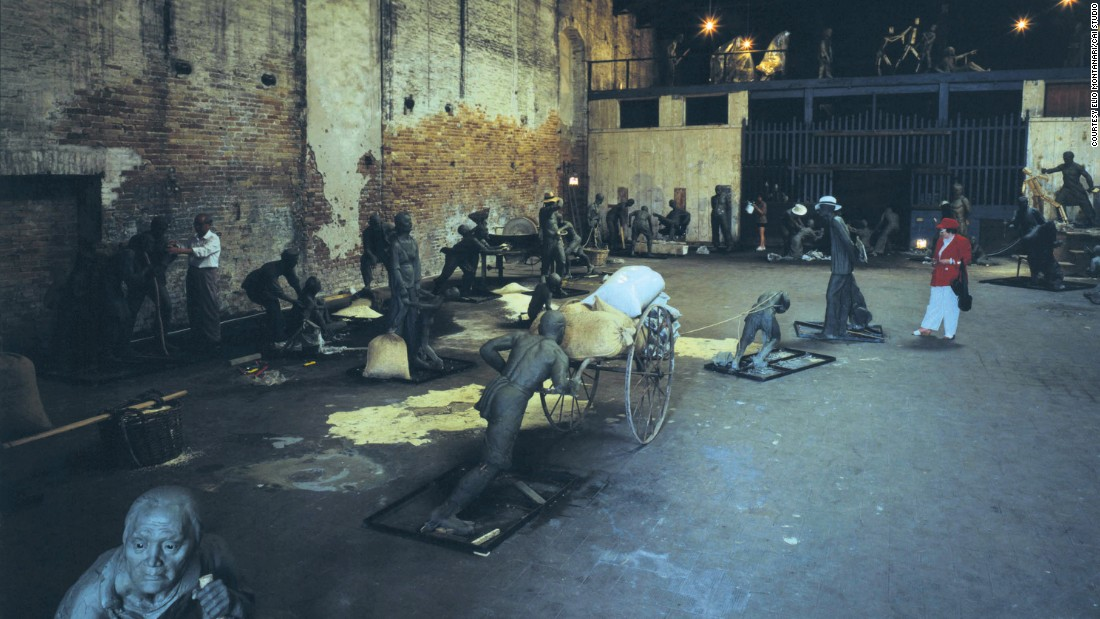 """Venice's Rent Collection Courtyard"", Deposito Polveri, Arsenale, Venice Biennale, 1999."