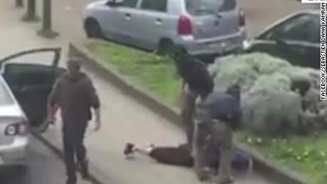 Belgium suspect arrest video_00010323