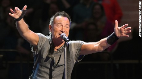Bruce Springsteen performs onstage at Madison Square Garden on March 28.
