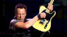 Bruce Springsteen performs at the Los Angeles Sports Arena on March 15.