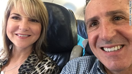 Vince Frese posted this image to Twitter of him and his wife on their way to attend a retreat for divorced Catholic for the Diocese of Toledo.
