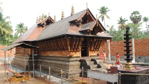 The Puttingal temple seen in an undated file photo.