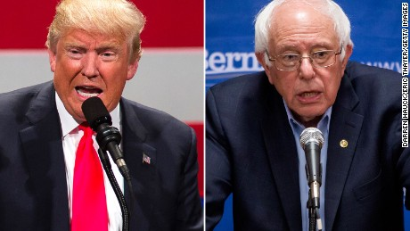Donald Trump's new target: Bernie Sanders supporters - CNN