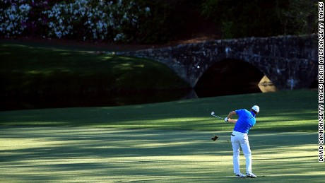 Spieth dunked two shots into the water on the short 12th en route to a quadruple bogey.