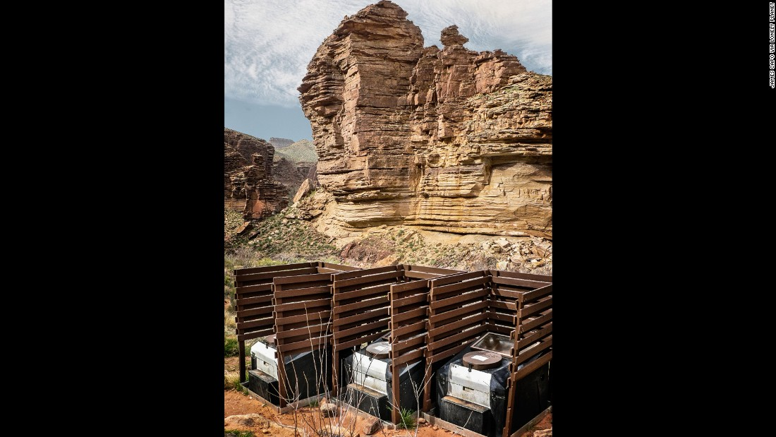 """The towering walls of the Grand Canyon failed to inspire the people who built these privacy-lite campsite toilets. (Picture credit: <a href=""""https://500px.com/"""" target=""""_blank"""">500px</a>)"""
