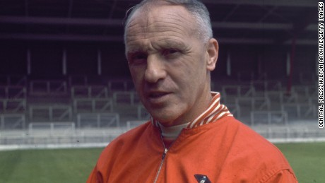 1969:  Liverpool Football Club Manager Bill Shankly (1913 - 1981).  (Photo by Central Press/Getty Images)