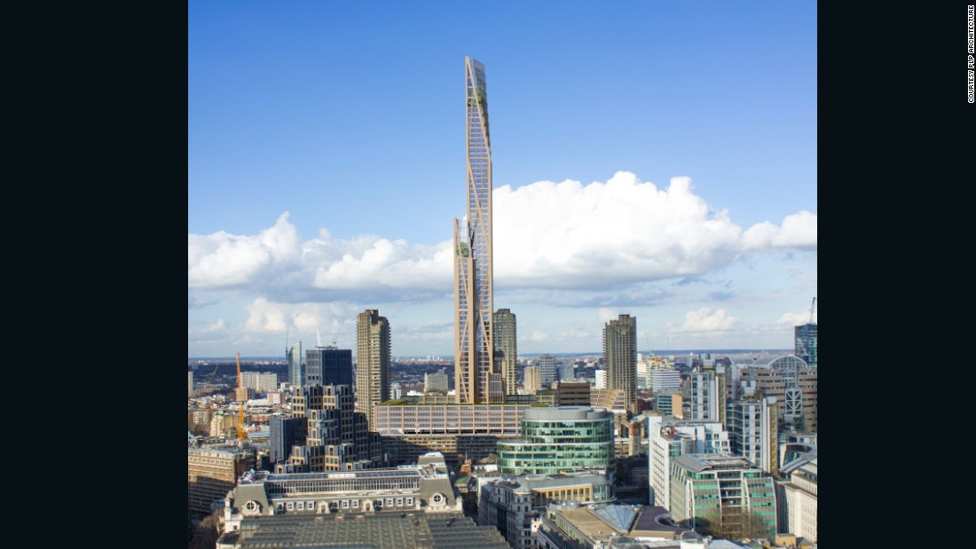 At 80 stories high, it would be London's first wooden skyscraper, and another addition to the growing trend for structures made entirely of timber.