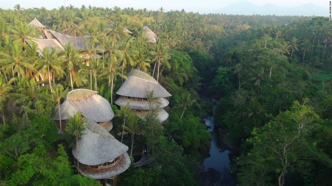 "In Bali, the 18-home <a href=""http://edition.cnn.com/2013/12/16/world/asia/bali-green-village-bamboo/"">Green Village</a> is constructed almost entirely of bamboo."