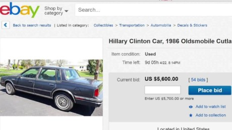buy hillary clinton's old car moos pkg erin _00011211.jpg