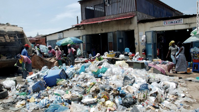 Garbage piles up as so little of Angola's wealth trickles down to the communities.