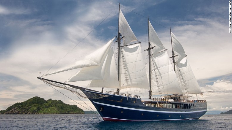 "The Dewi Nusantara looks fresh off the set of ""Pirates of the Caribbean."""