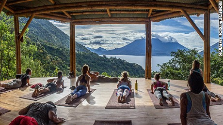The 9 Day Women's Sacred Expression Retreat in Lake Atitlan, Guatemala, is located in a magical highland setting with views of the lake and volcano peaks. Women come to practice yoga, eat organic food and unlock their inner voice with with self-exploratory writing exercises.
