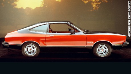 The 1976 Ford Mustang II Mach 1 bore more than a passing resemblance to the European Ford Capri in side profile.