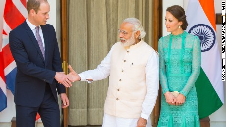 Modi's firm handshake made a mark on Prince William