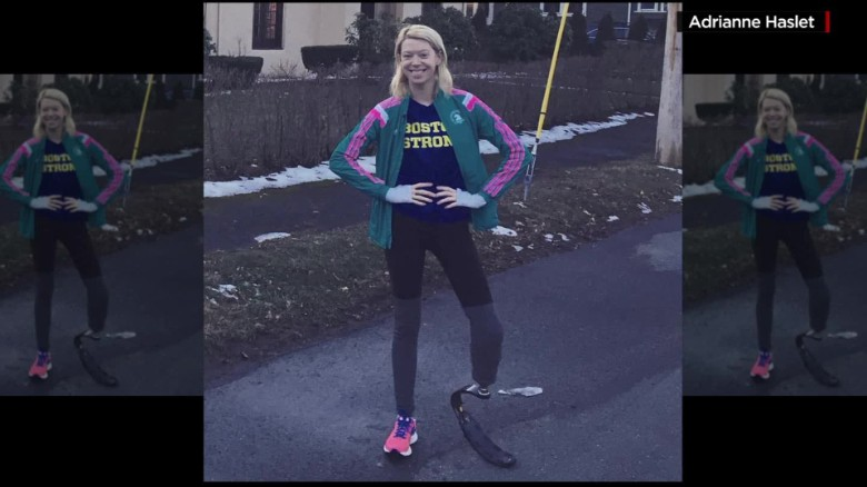Boston bombing survivor prepares to run the marathon