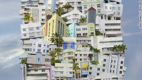 'Stitching' images to create new worlds: the art of imaginary architecture