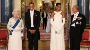 The Obamas meet British royalty