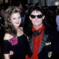 Drew Barrymore and Corey Feldman at the Shrine Auditorium in Los Angeles, California.