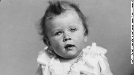 Childhood portrait of Princess Elizabeth, future Queen Elizabeth II, December 1926.