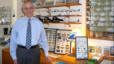 Marvin Goldman in his EL AL Museum in 2008