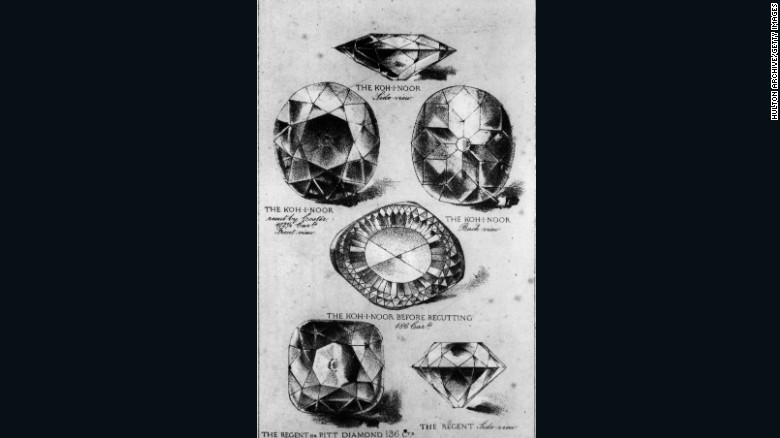 Sketches of the Kohinoor from circa 1860.