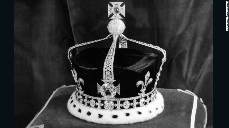 The Kohinoor diamond currently sits in the center of the front cross of the Queen Mother's crown.