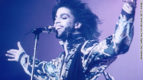 American pop star Prince performing at Wembley, London, 22nd August 1990. (Photo by Graham Wiltshire/Hulton Archive/Getty Images)